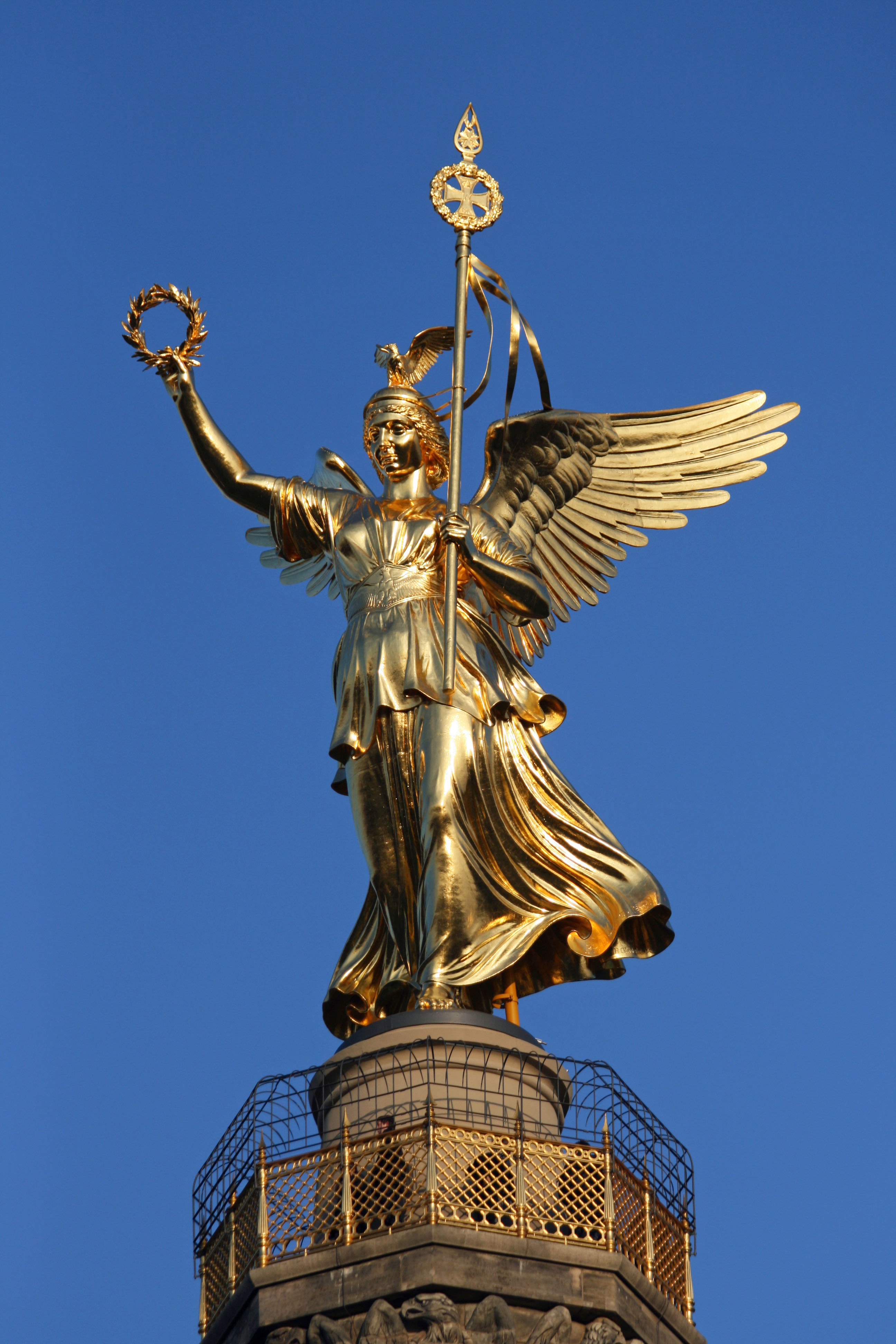 Gold Else, a statue of the goddess of victory, atop the Siegessäule (Victory Column) in Berlin