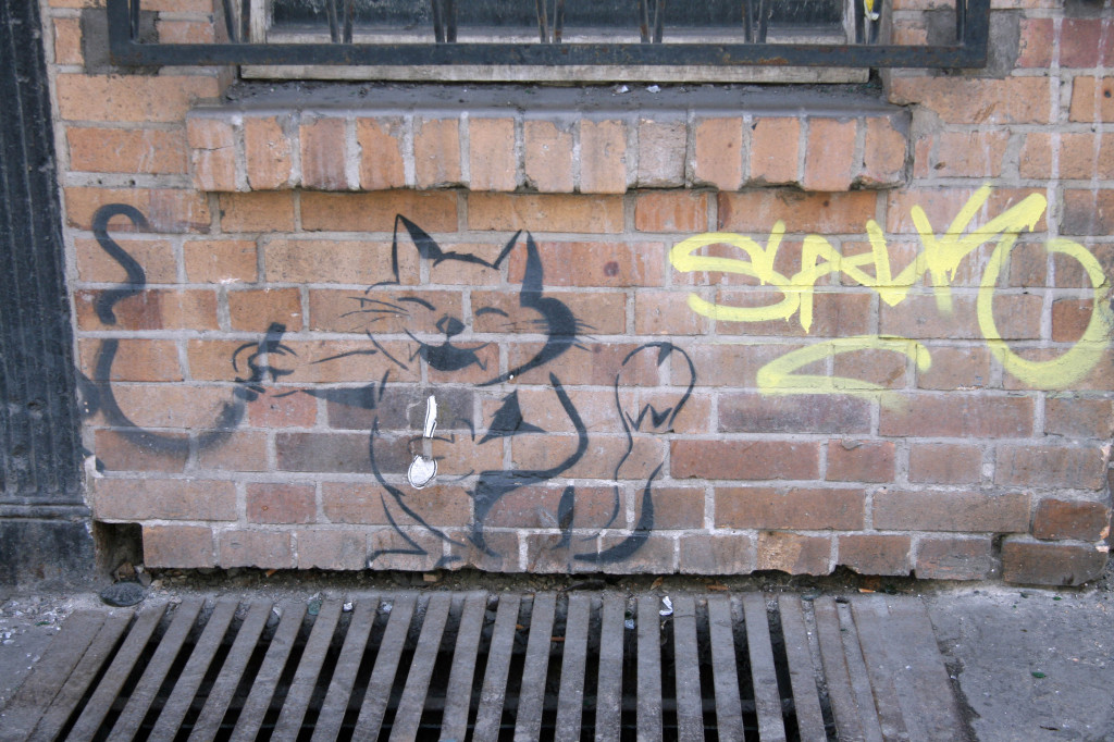 Graffiti Cat: Street Art by Unknown Artist in Berlin