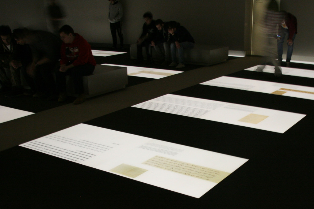 An exhibit inside the Information Centre under The Memorial to the Murdered Jews of Europe (Holocaust Memorial) in Berlin