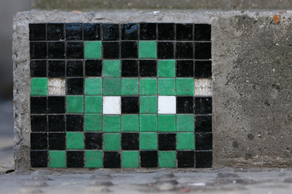 Invader 10: Tile Mosaic Space Invader Street Art in London