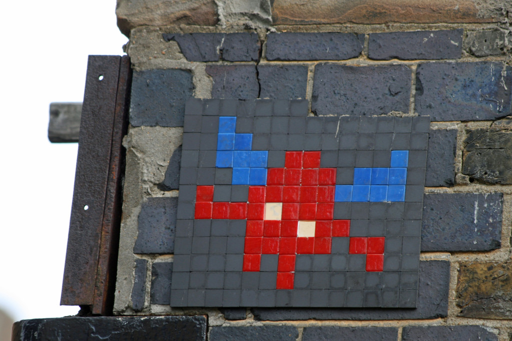 Invader 11: Tile Mosaic Space Invader Street Art in London