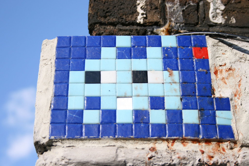 Invader 4: Tile Mosaic Space Invader Street Art in London