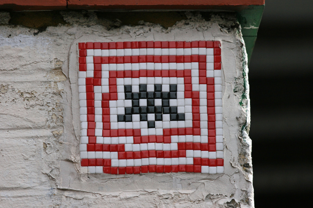 Invader 6: Tile Mosaic Space Invader Street Art in London