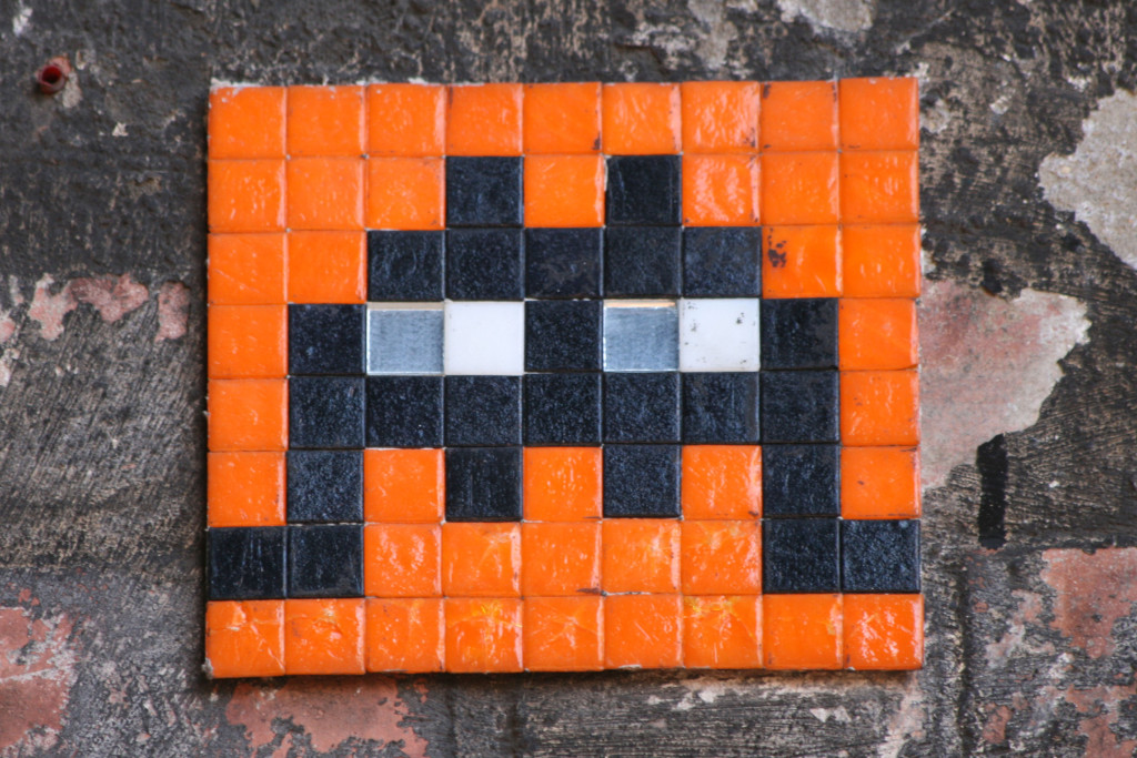 Invader 7: Tile Mosaic Space Invader Street Art in London