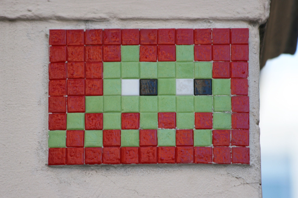 Invader 9: Tile Mosaic Space Invader Street Art in London