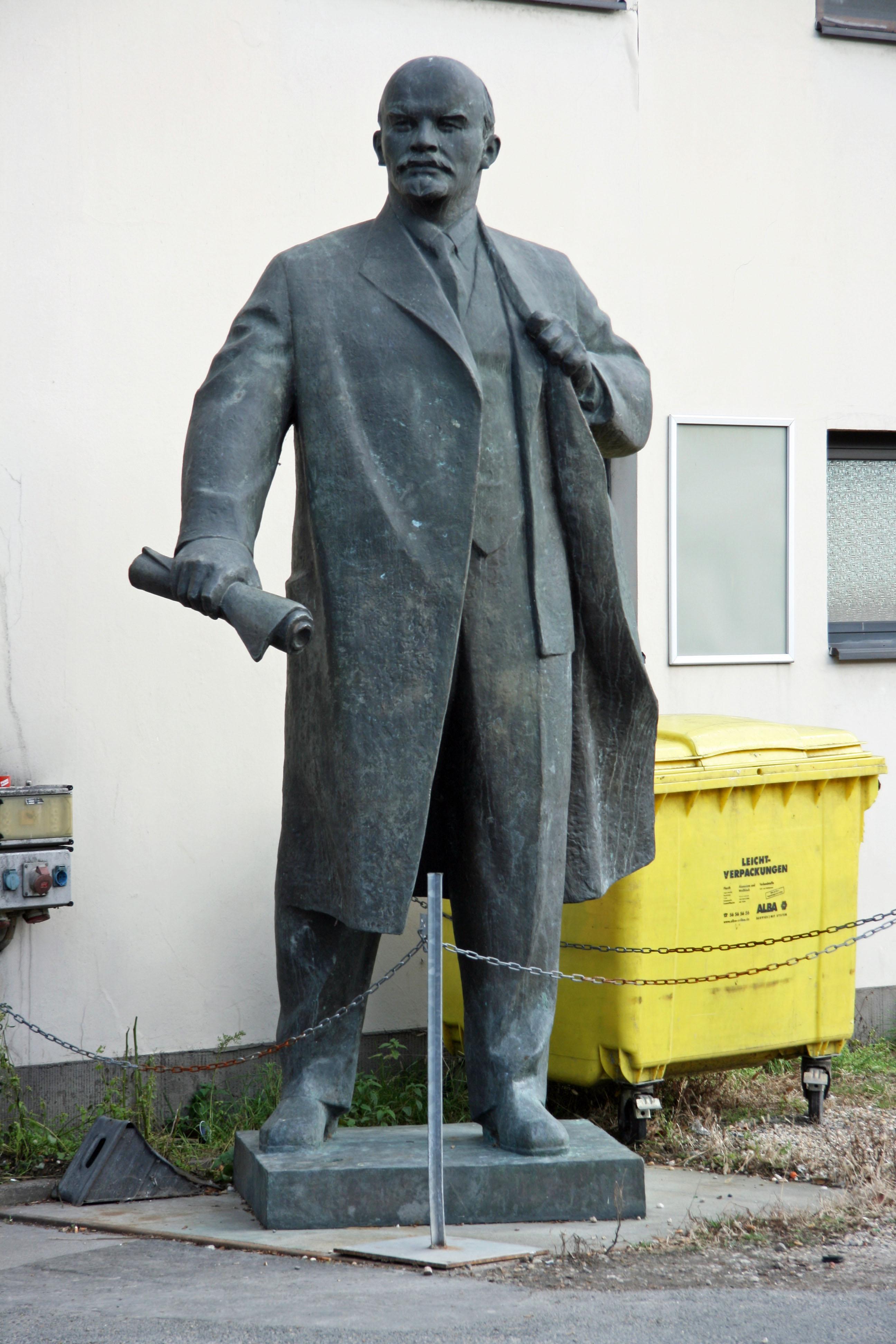 A statue of Lenin outside a building off Köpenicker Strasse in Berlin