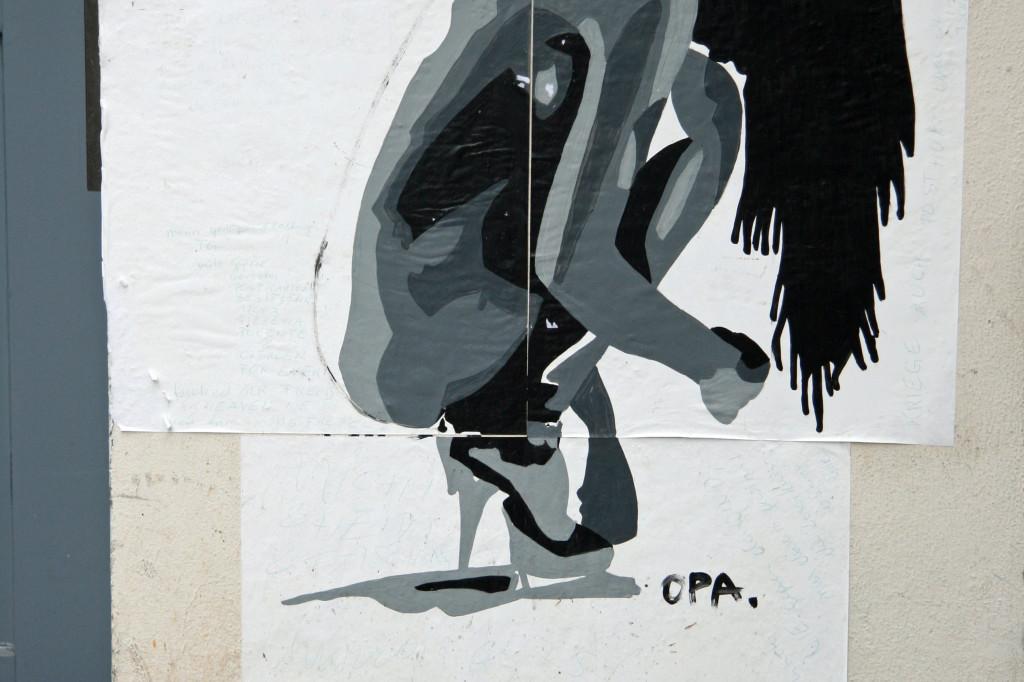 OPA: Street Art by Nick Gregson in Berlin
