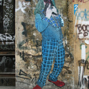 Suicide Circus (Clown With 2 Uzis In His Mouth): Street Art by Primo in Berlin