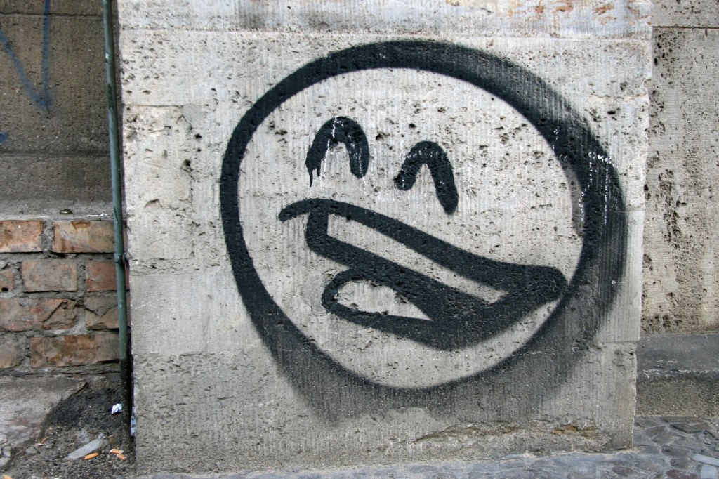 Smiler: Street Art by PROST in Berlin