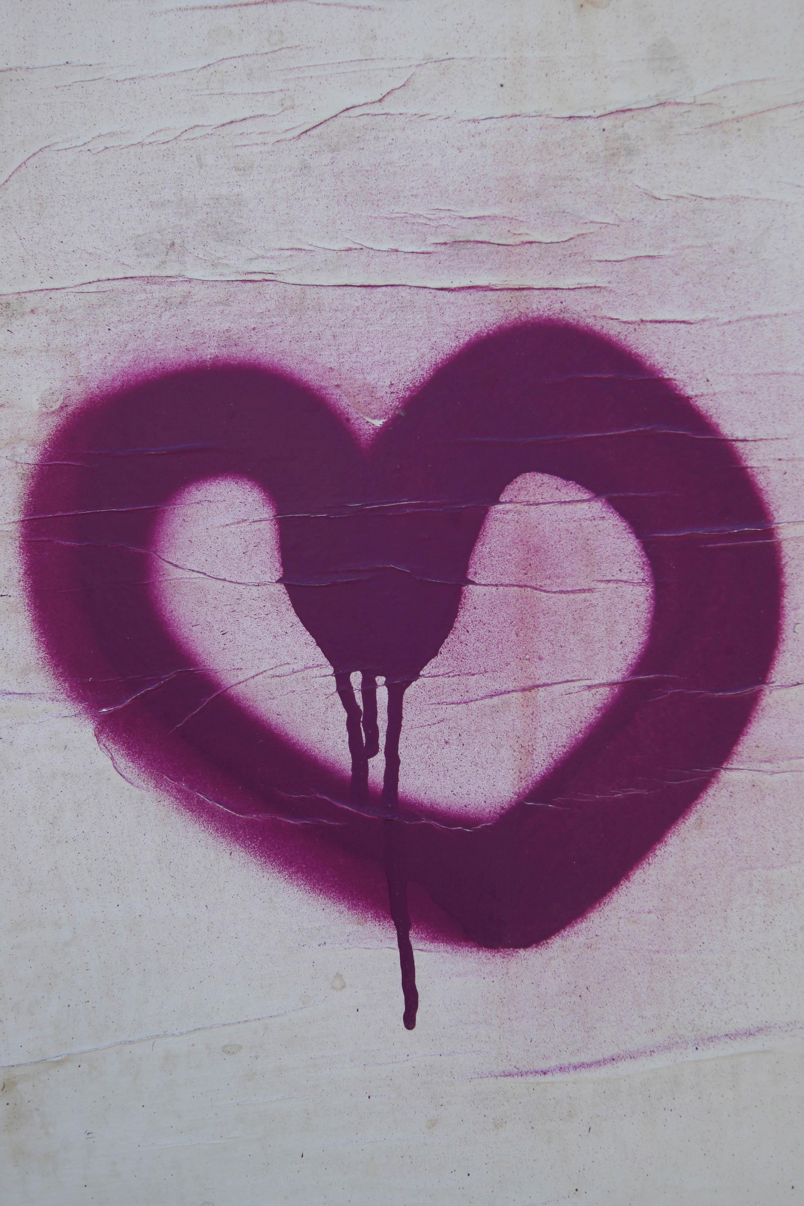 Purple Heart: Street Art in Berlin - Artist Unknown