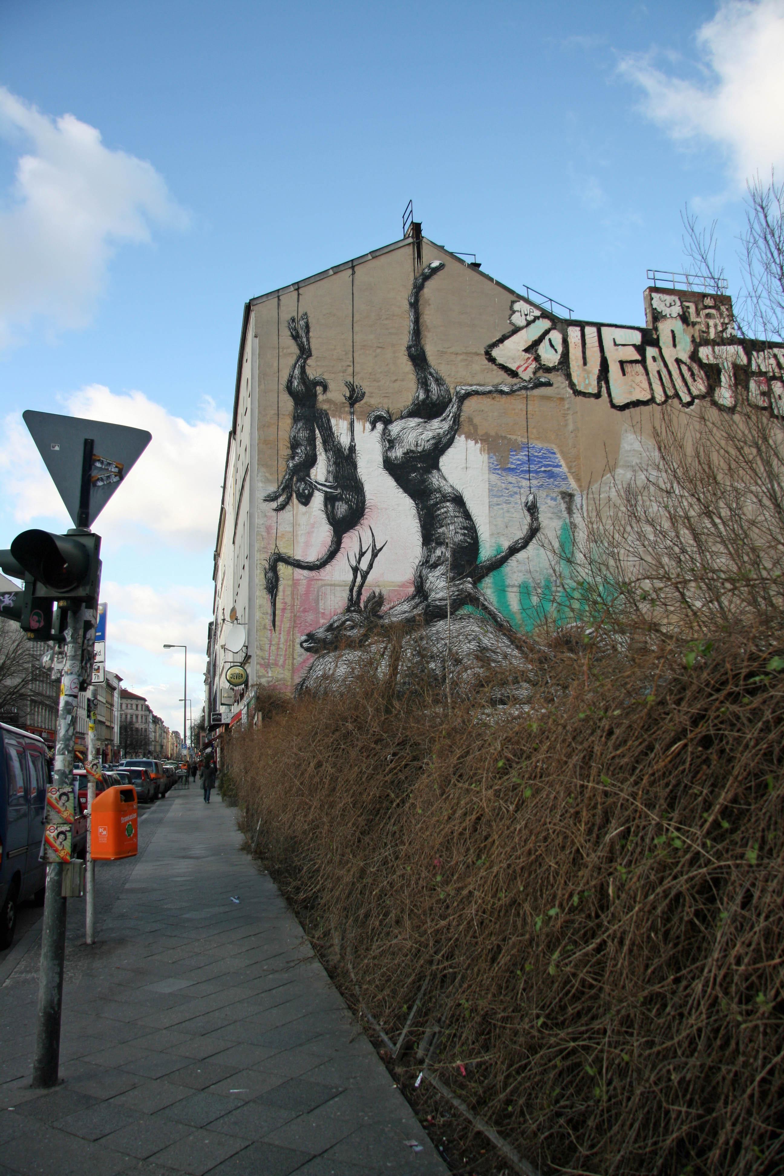 Nature Morte: Street Art by ROA in Berlin's Kreuzberg