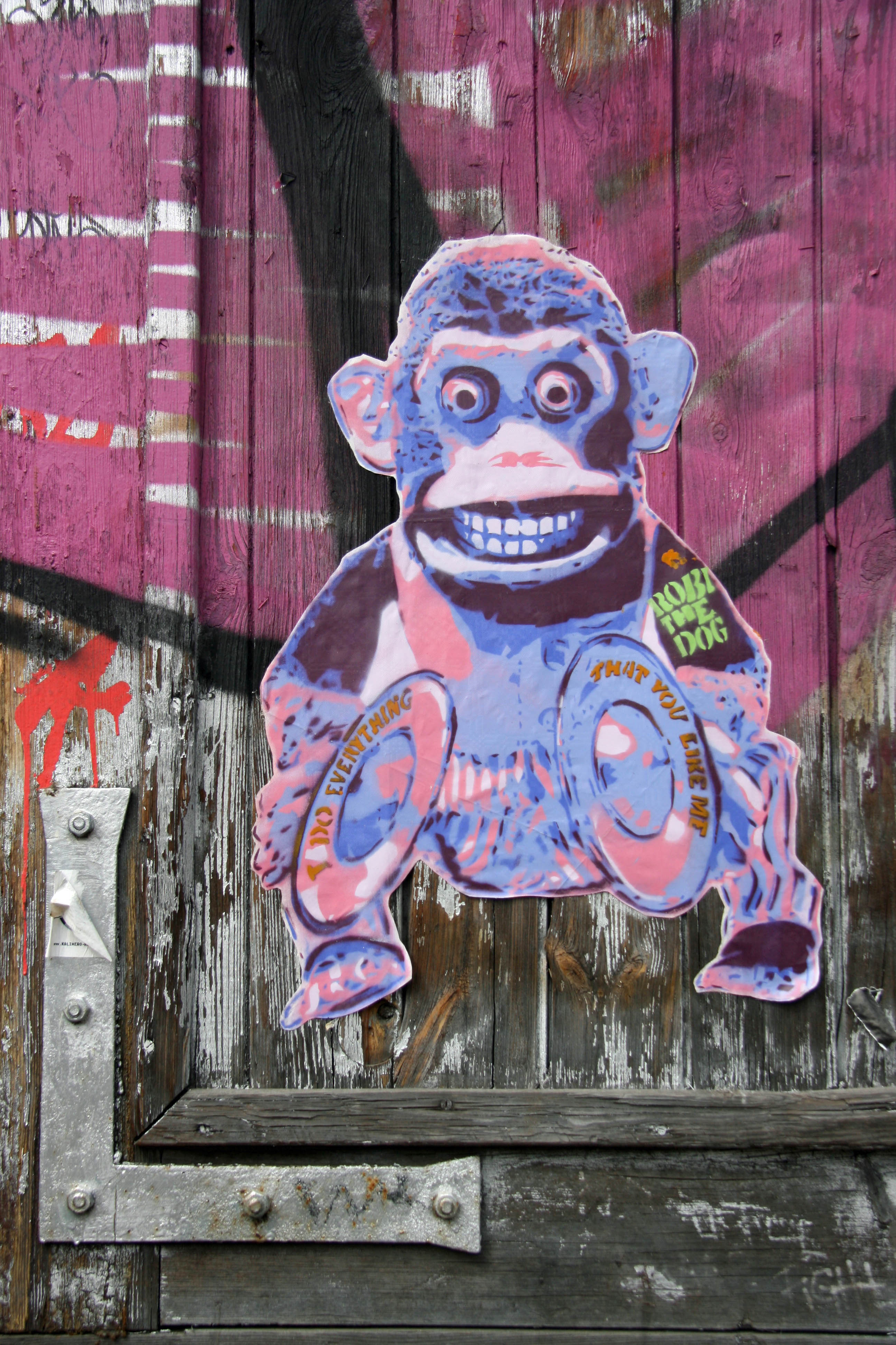 Monkey (I Do Everything That You Like Me): Street Art by Robi The Dog in Berlin