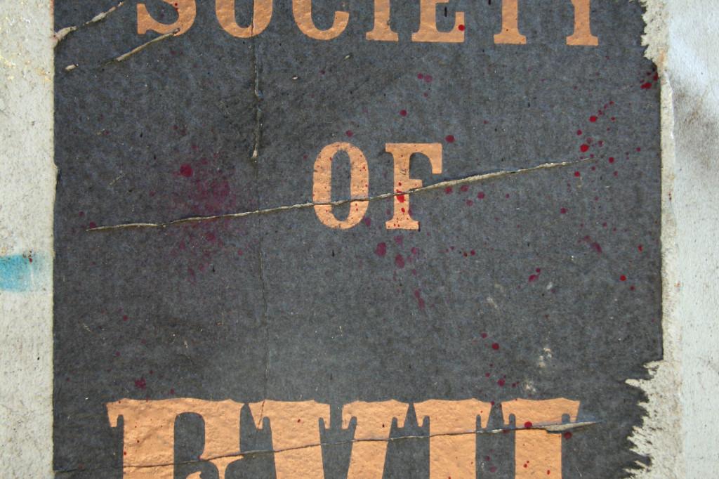 Society of Evil: Street Art by Unknown Artist in Berlin