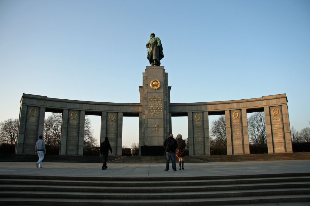 The Soviet War Memorial on Strasse des 17 Juni in the Tiergarten in Berlin