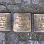 Stolpersteine 105: In memory of Eugen Jaskulski, Edith Jaskulski and Erna Jaskulski (Bötzowstrasse 10) in Berlin