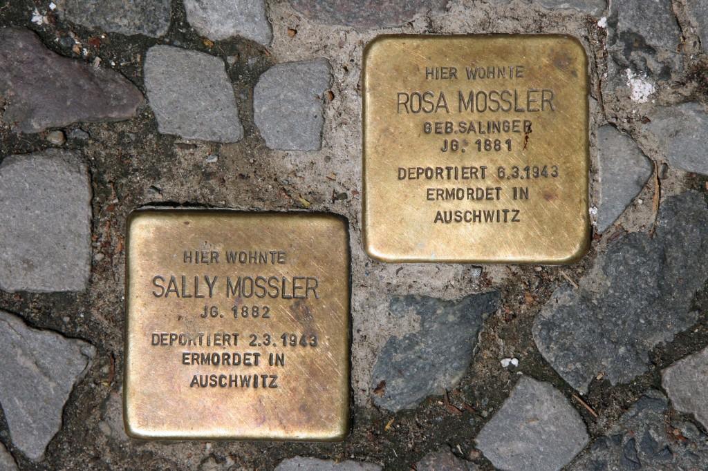 Stolpersteine 107: In memory of Sally Mossler and Rosa Mossler (Christburger Strasse 40) in Berlin
