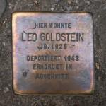 Stolpersteine 108: In memory of Leo Goldstein (Sredzkistrasse 54) in Berlin