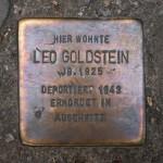 Stolpersteine 108: In memory of Leo Goldstein (Sredzkistrasse 54) in Berlin