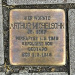 Stolpersteine 110: In memory of Arthur Michelsohn (Corner of Barnimstrasse and Otto-Braun-Strasse) in Berlin