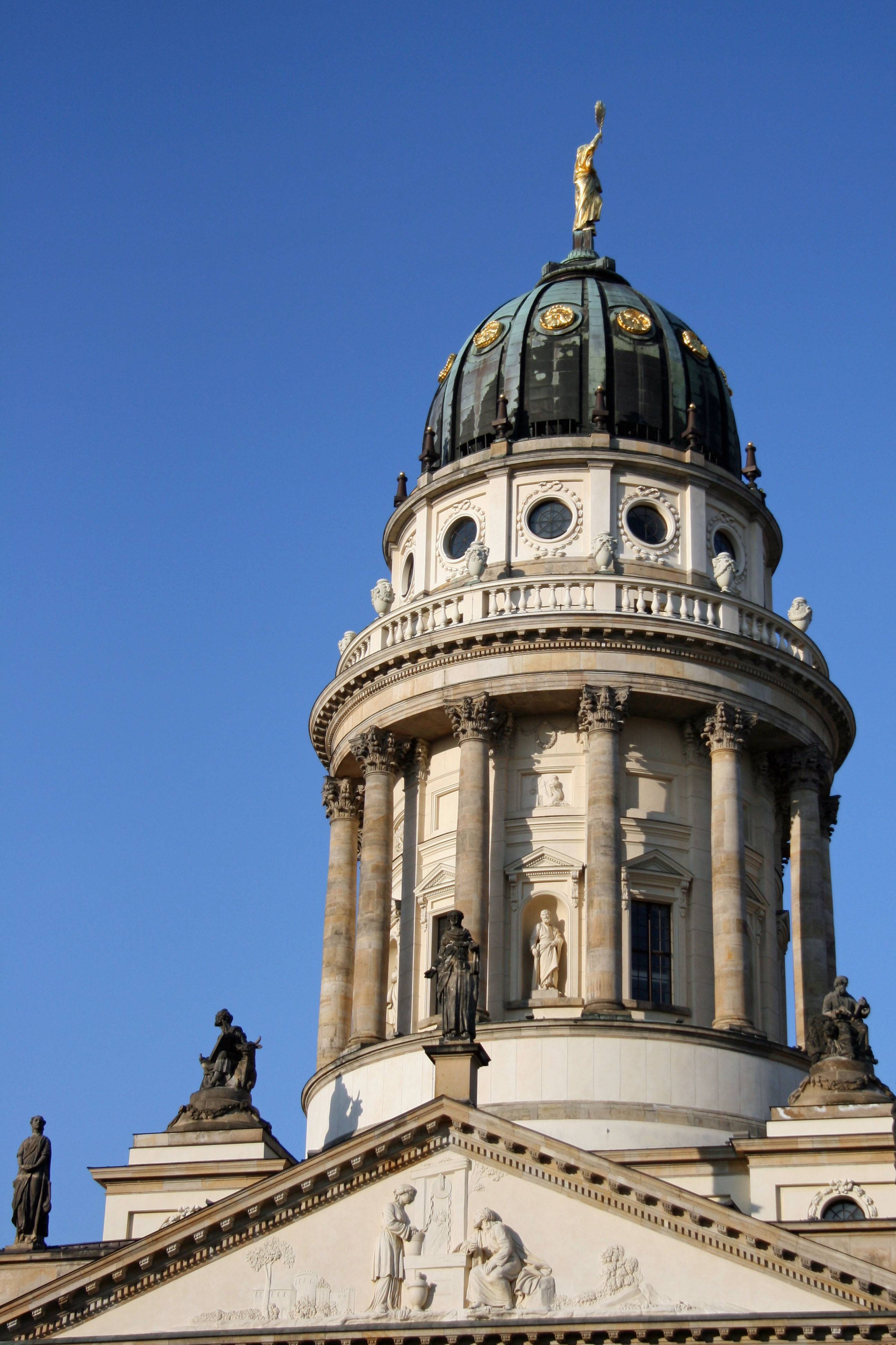 The Cupola and Viewing Gallery of the Französischer Dom (French Cathedral) in Berlin from the Gendarmenmarkt