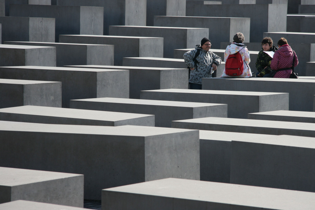 The Field of Stelae, 2711 concrete blocks, at The Memorial to the Murdered Jews of Europe (Holocaust Memorial) in Berlin