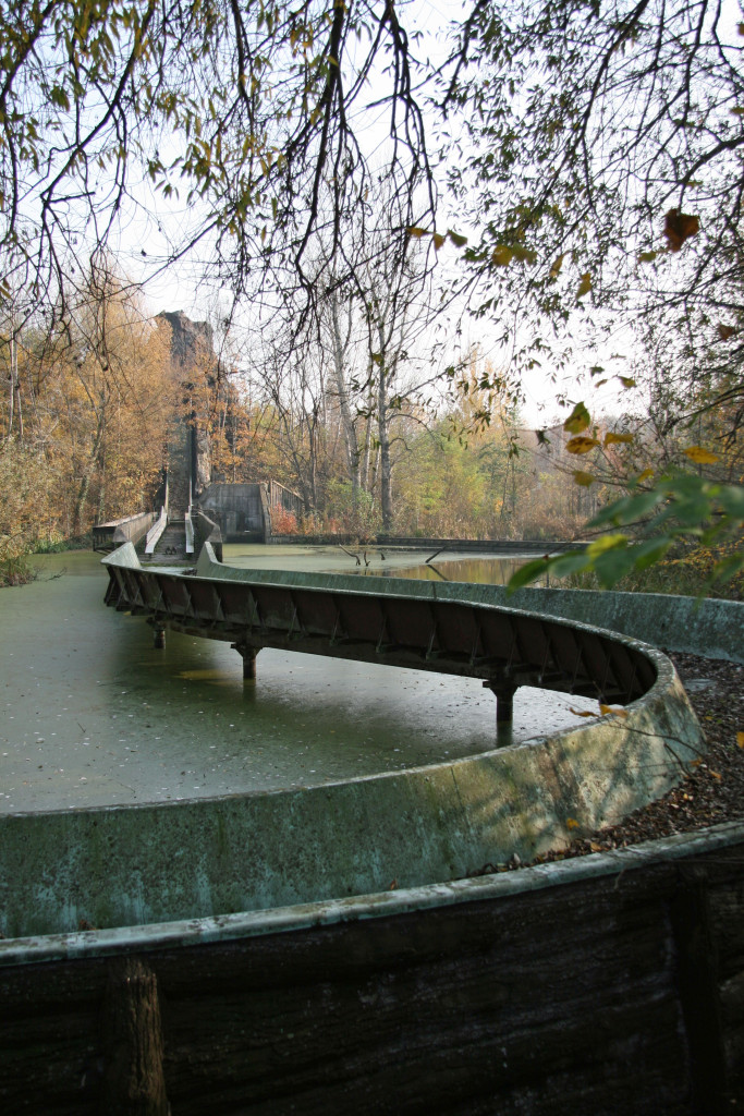 Site of the final scene of the film Hanna (Wer ist Hanna?) The Grand Canyon Ride at Spreepark Plänterwald, an abandoned Theme Park in Berlin