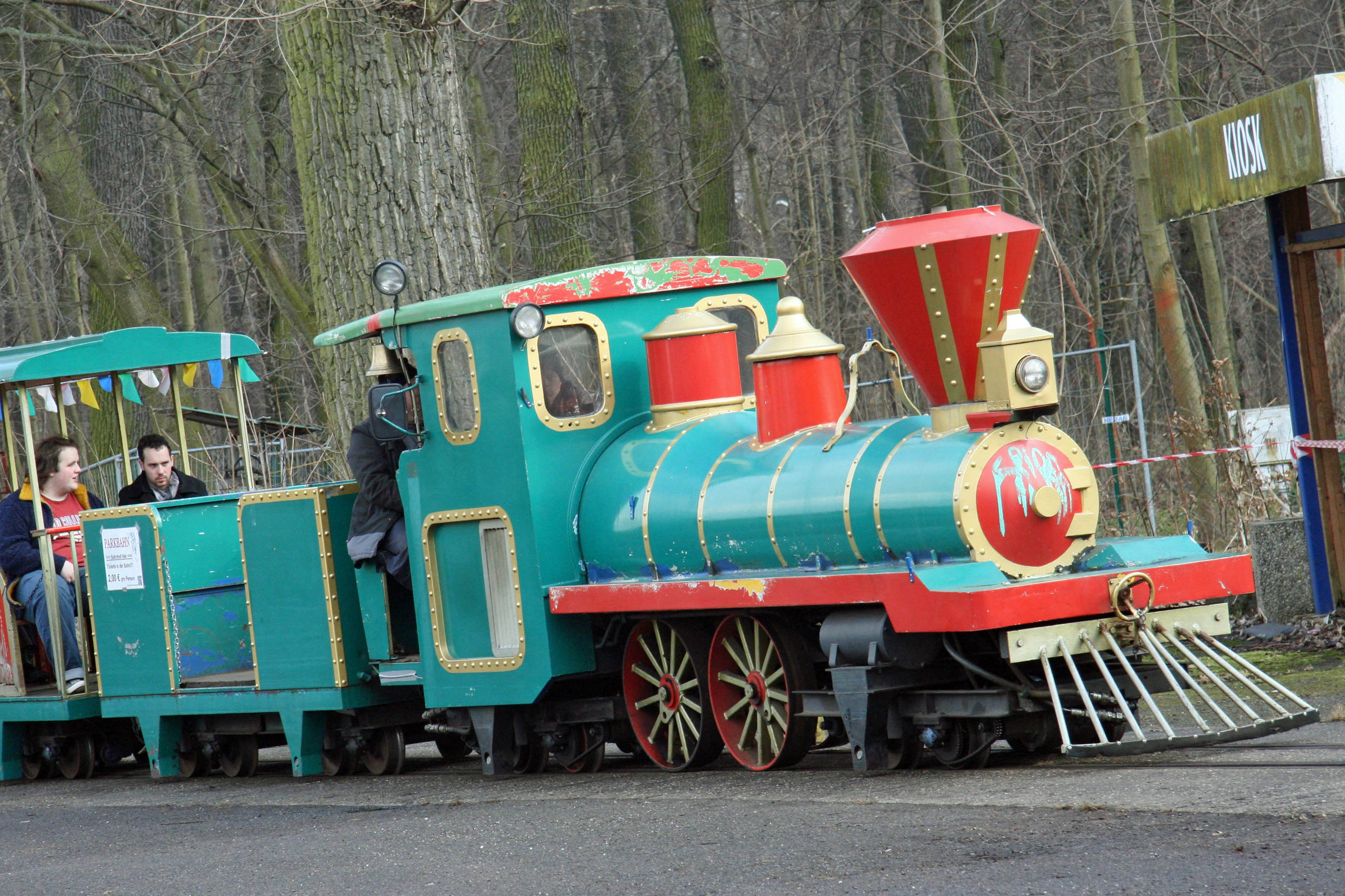 The train at Spreepark Plänterwald, an abandoned Theme Park in Berlin - now referred to as the Parkbahn but previously the Santa Fe Express