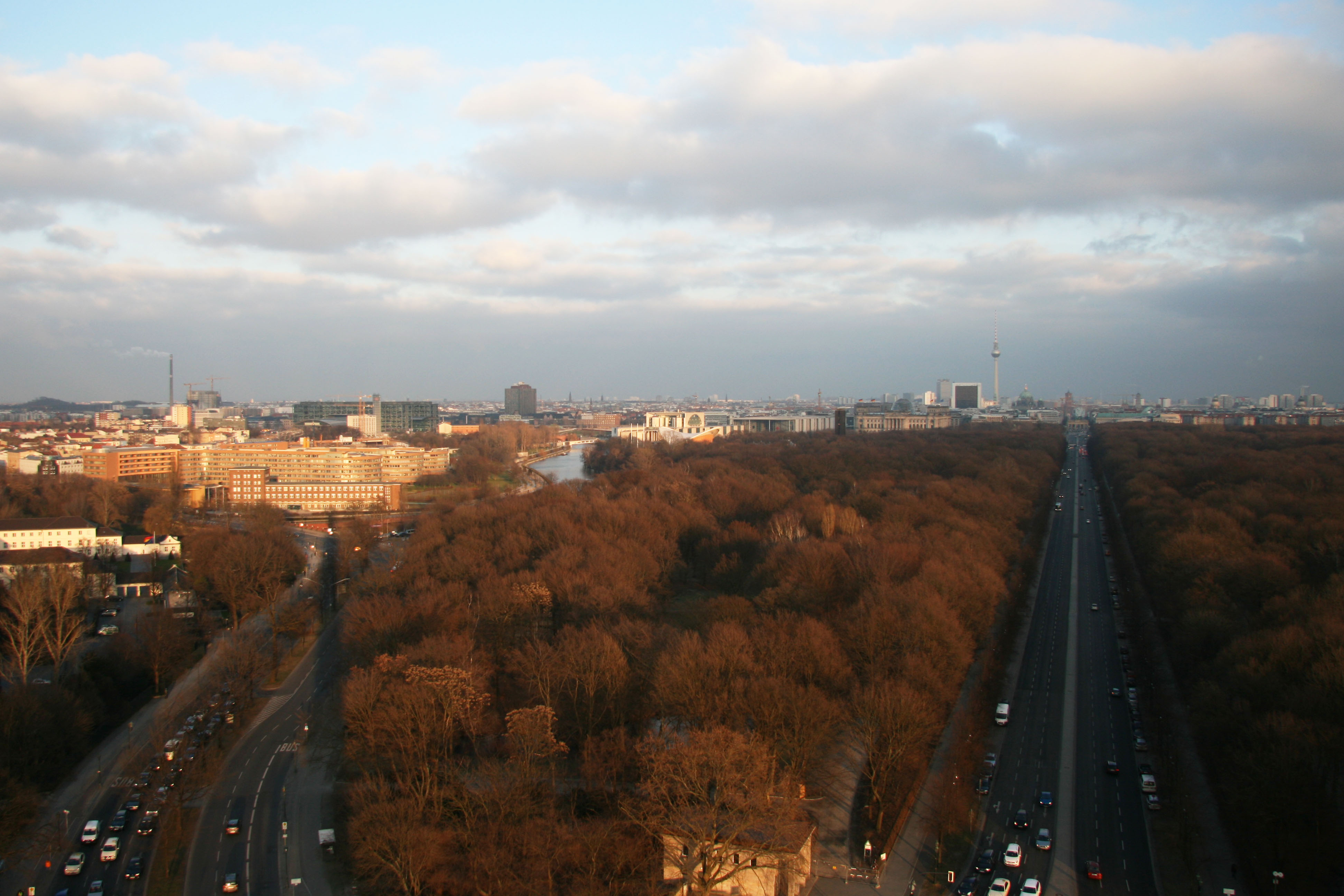 The view towards Berlin Mitte from the Siegessäule (Victory Column) in Berlin