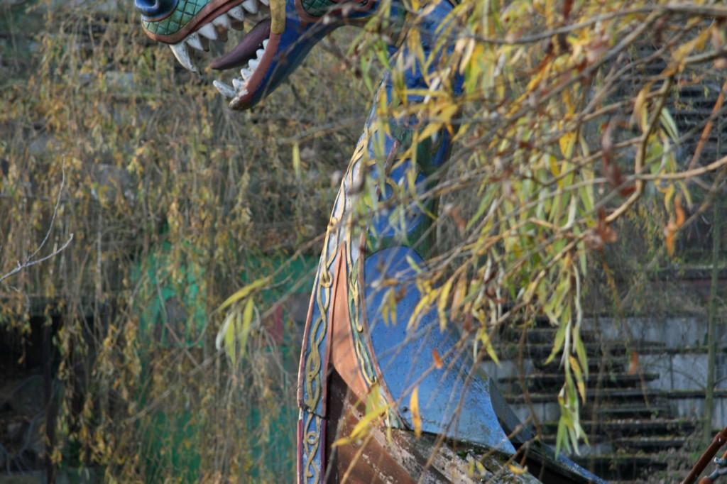 A Viking Boat ride at Spreepark Plänterwald, an abandoned Theme Park in Berlin