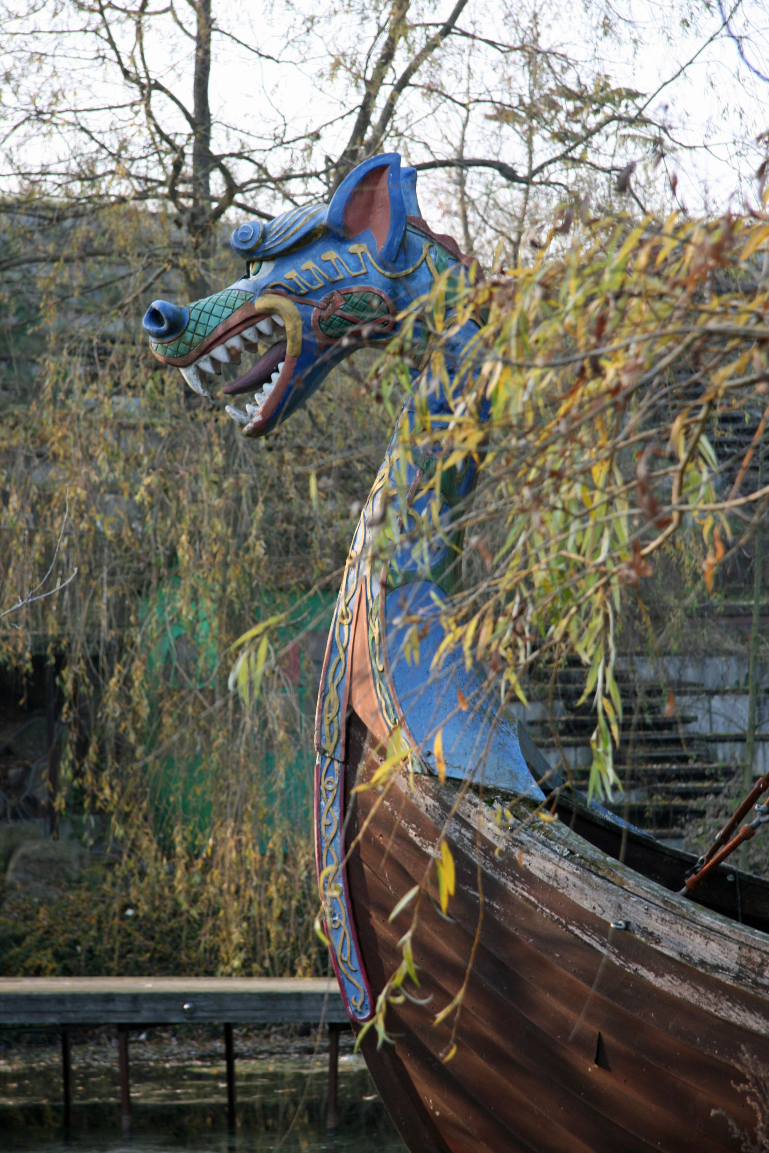 A Viking Boat ride at Spreepark Plänterwald, an abandoned Theme Park in Berlin