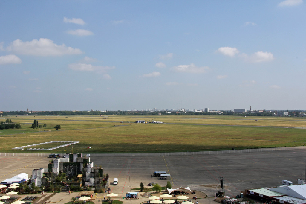 The airfield from the roof of the Tempelhof Airport in Berlin