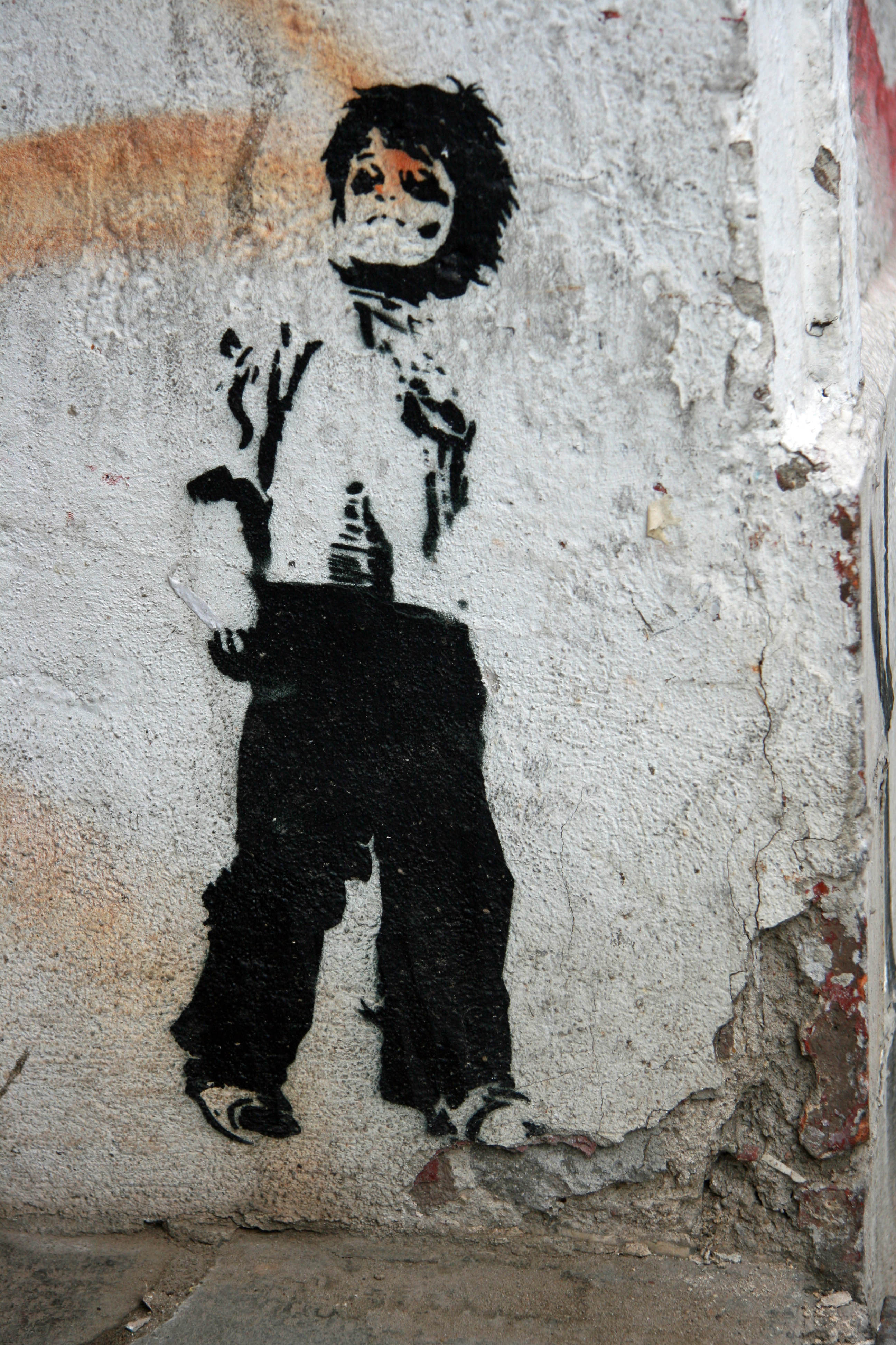 Black Eyed Boy - Street Art by ALIAS in Berlin