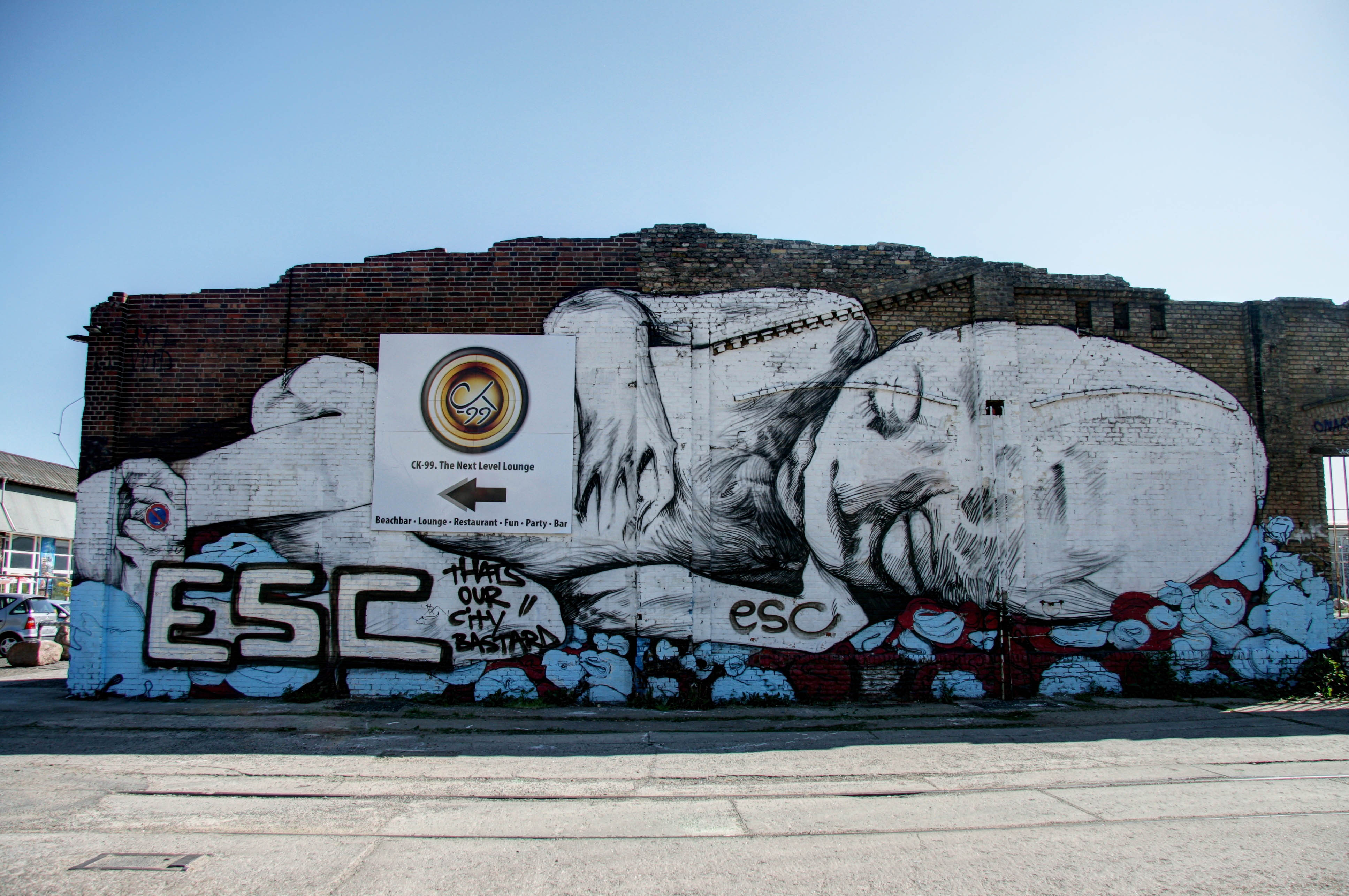 Sleeping: Street Art by AXEL VOID for Wände ohne Ende in Berlin