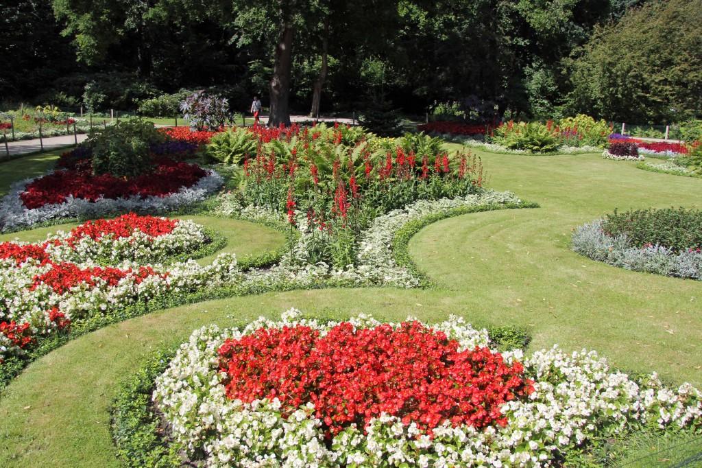 A beautiful garden in the Tiergarten in Berlin