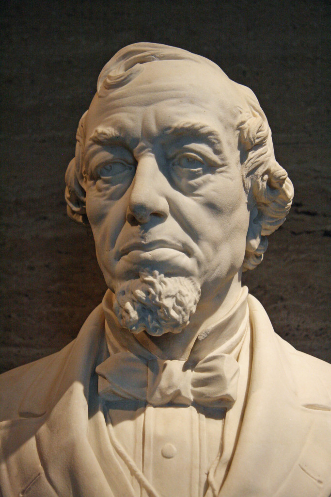 A bust of former British Prime Minister, Benjamin Disraeli, on display at the Deutsches Historisches Museum (German Historical Museum) in Berlin