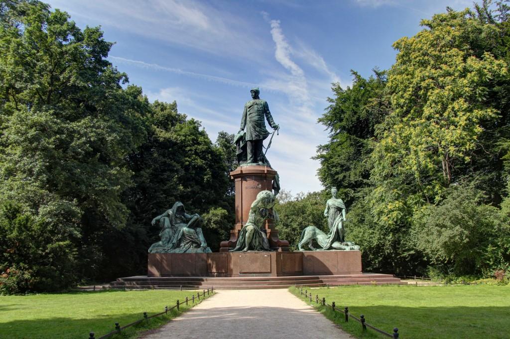 The Bismarck Memorial in the Tiergarten in Berlin