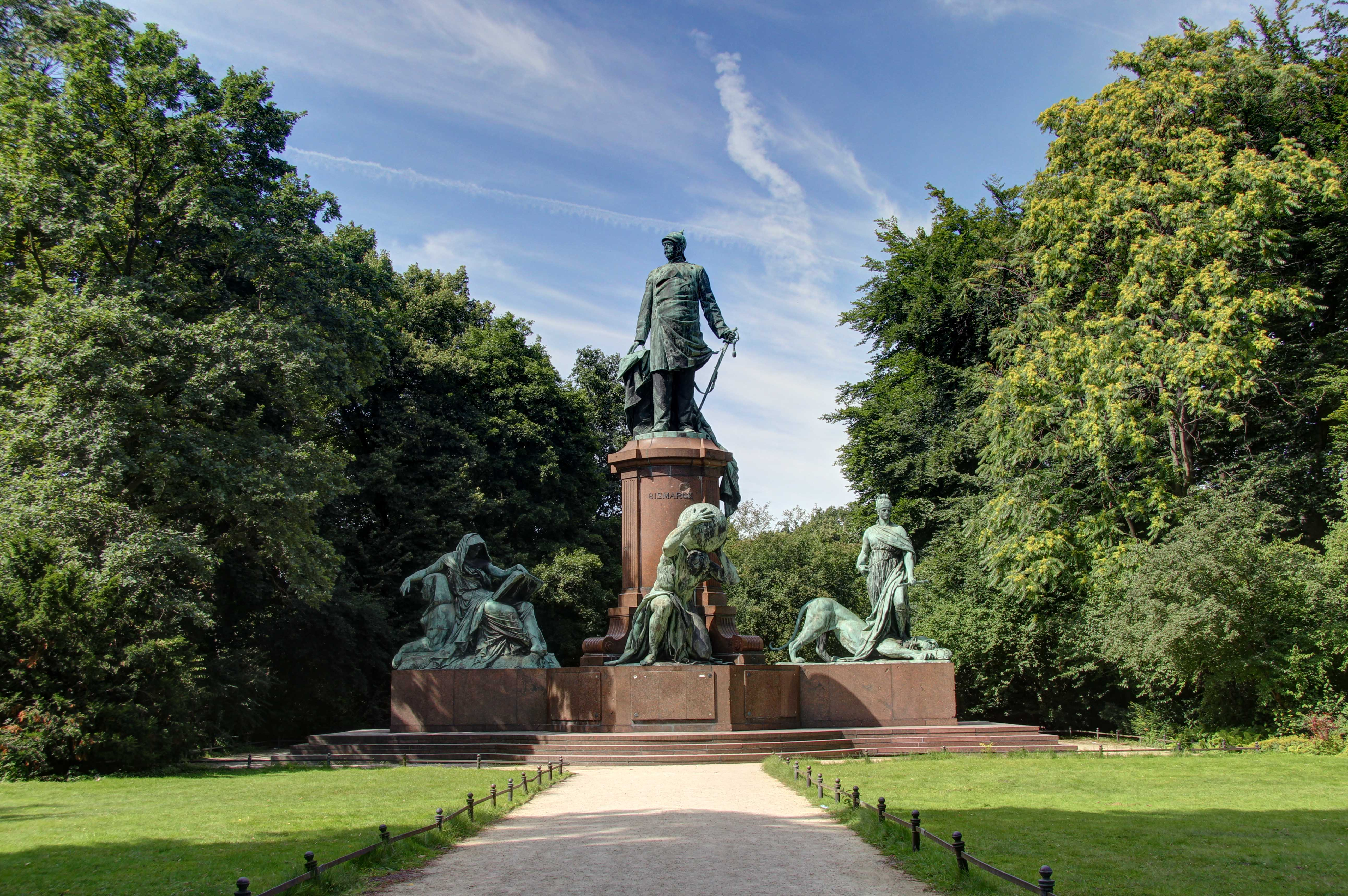 The Bismarck Memorial in the Tiergarten in Berlin
