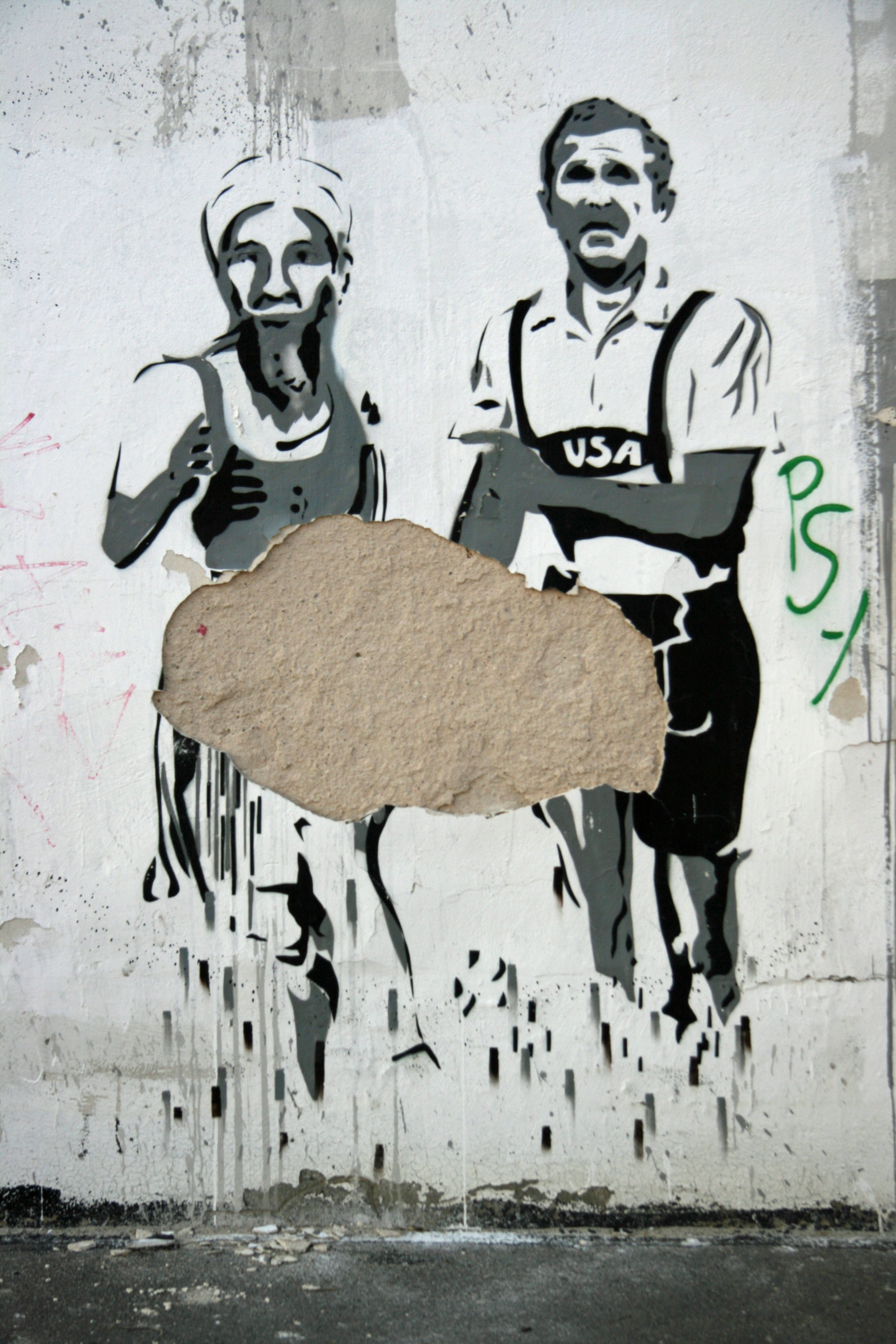 Bush Runner - Street Art by Unknown Artist in Berlin