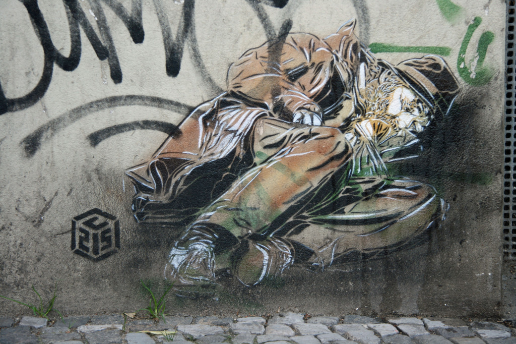 Sleeping on the Street: Street Art by C215 in Berlin