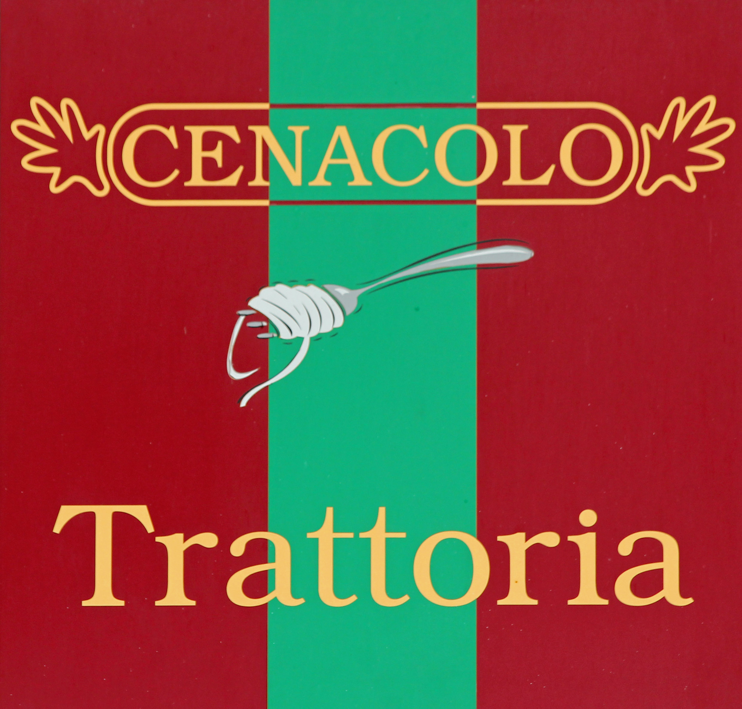 The logo of Cenacolo, an Italian restaurant in Prenzlauer Berg, Berlin