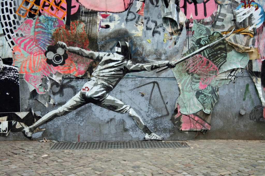 Fence Painting - Street Art by DECYCLE in Berlin