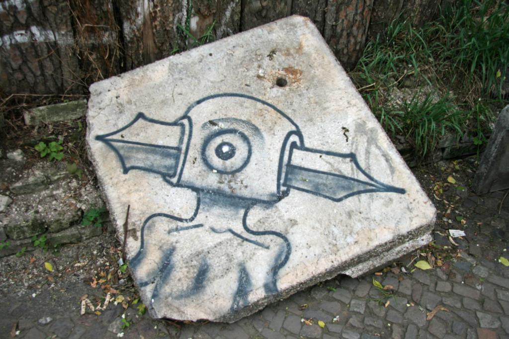 His Nibs - Street Art by Feliks Stift in Berlin