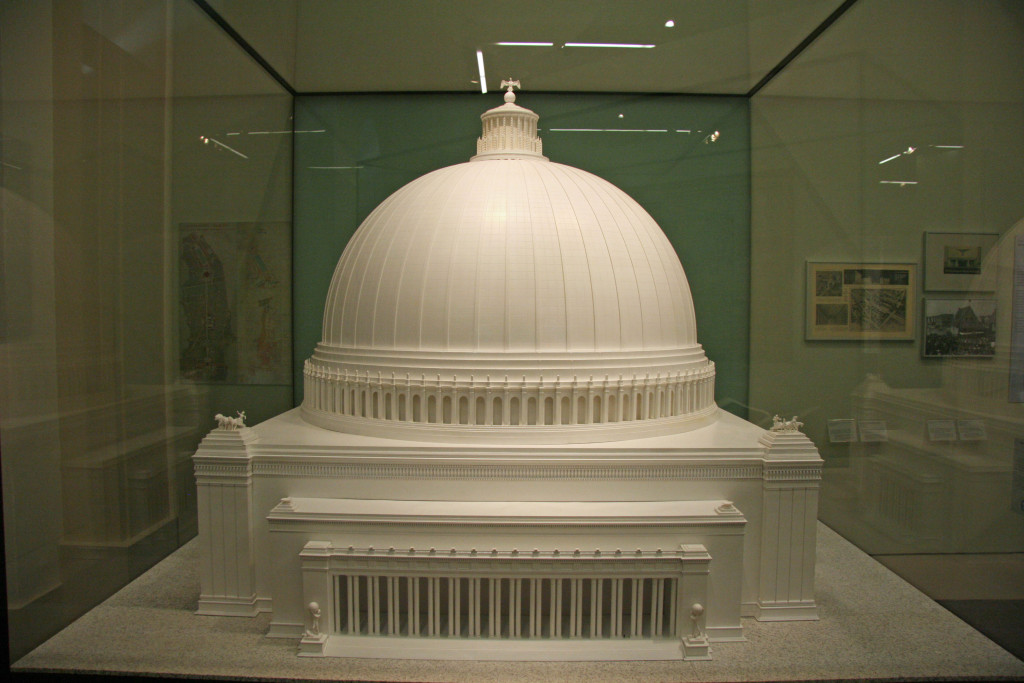 A model of Grosse Halle des Volkes, part of Albert Speer's plans for Hitler's Welthauptstadt Germania, on display at the Deutsches Historisches Museum (German Historical Museum) in Berlin