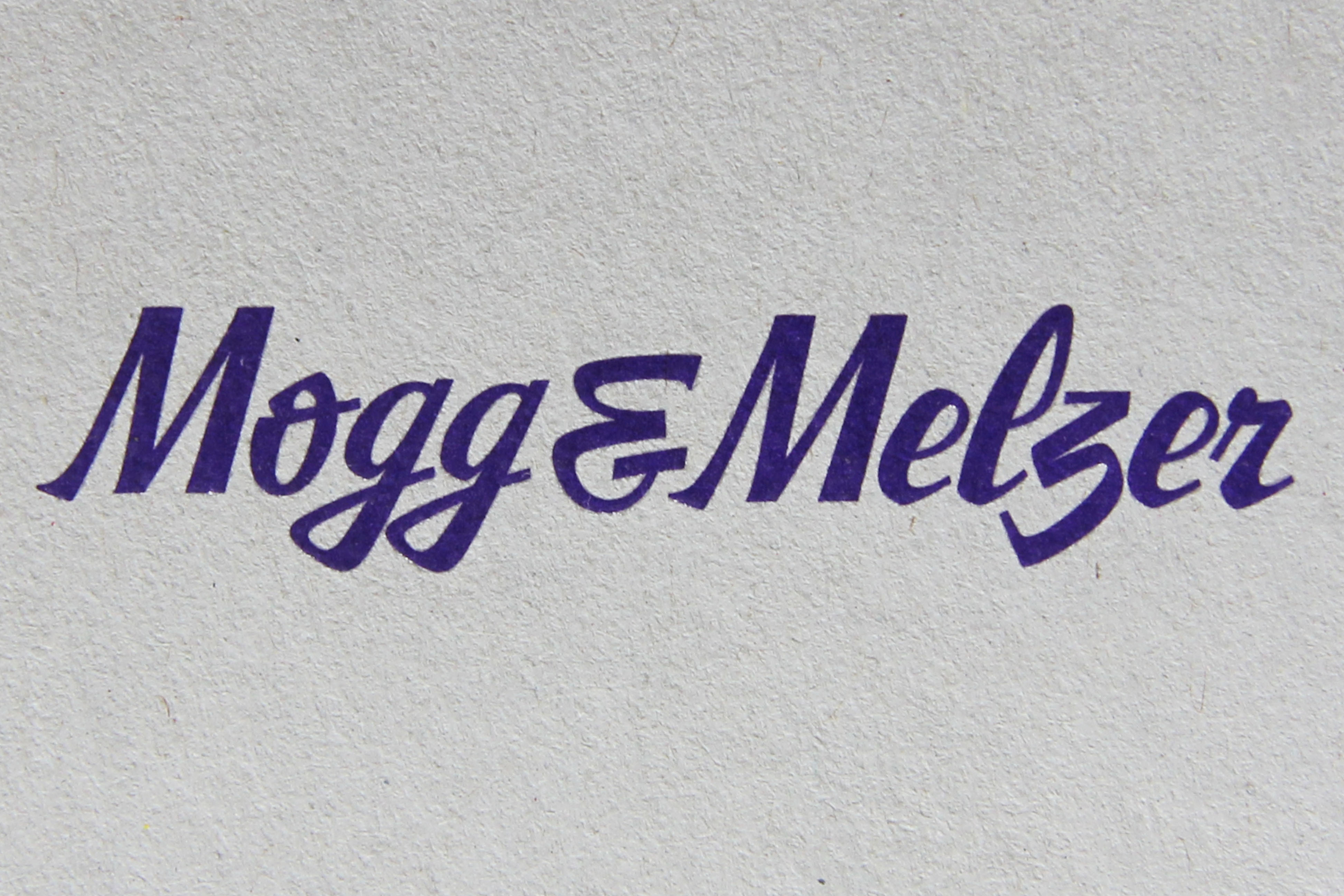 The logo of Mogg & Melzer, a deli in Berlin