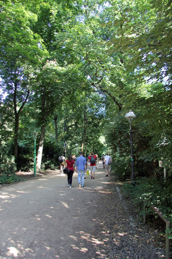 One of many paths in the Tiergarten in Berlin