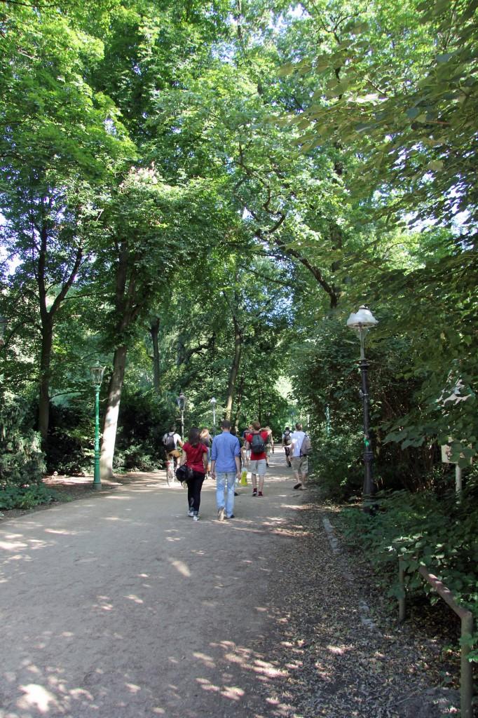 One of many paths in the Tiergarten in Berlin