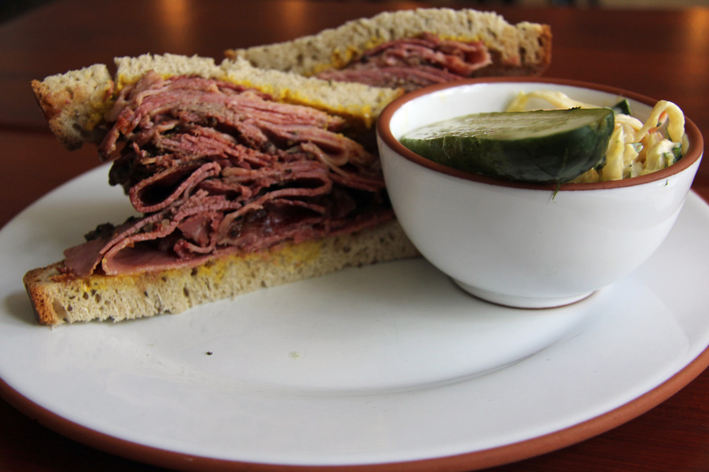 A Large Pastrami Sandwich at Mogg & Melzer, a deli in Berlin