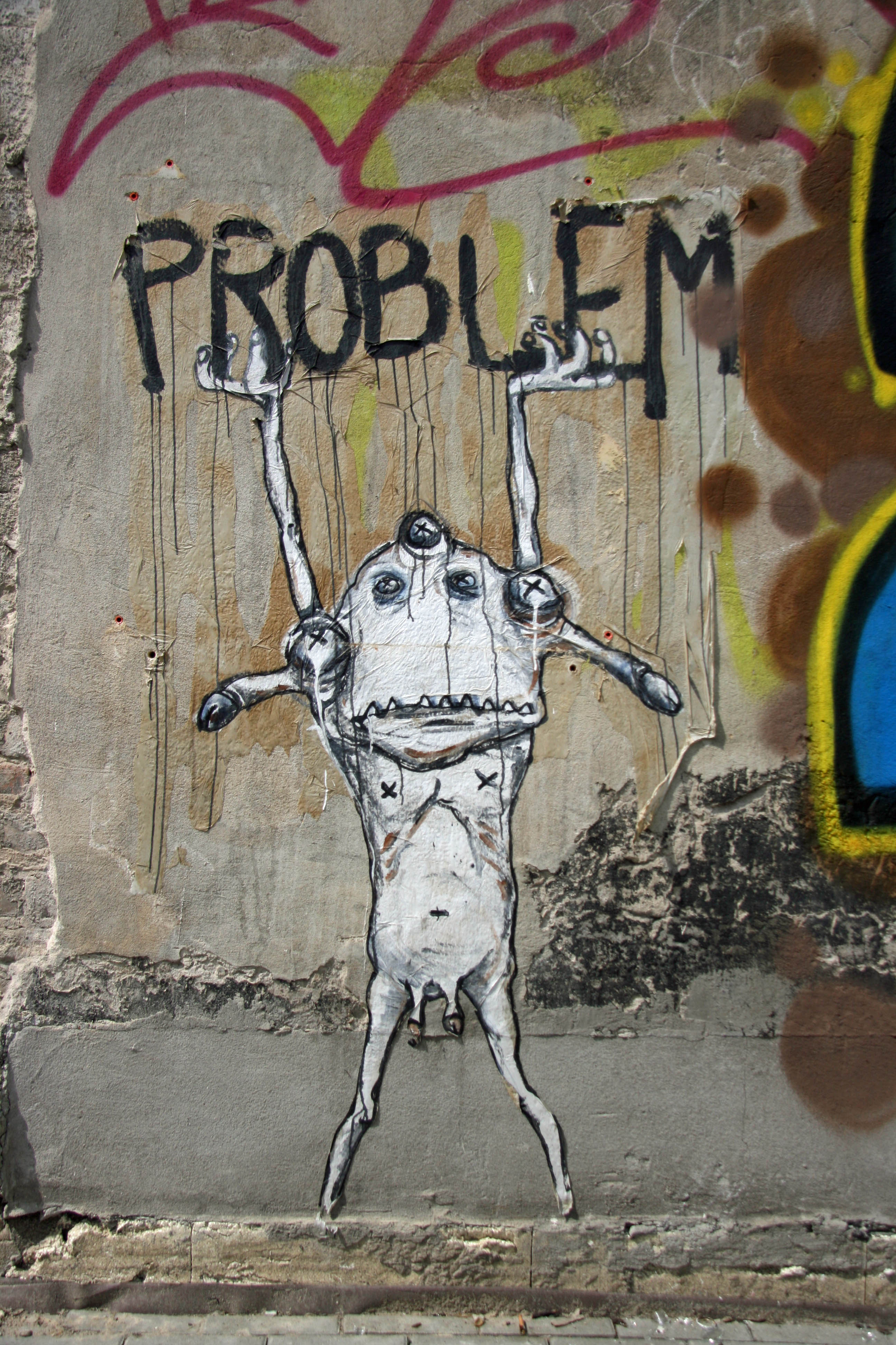 Problem: Street Art by Rallito x in Berlin