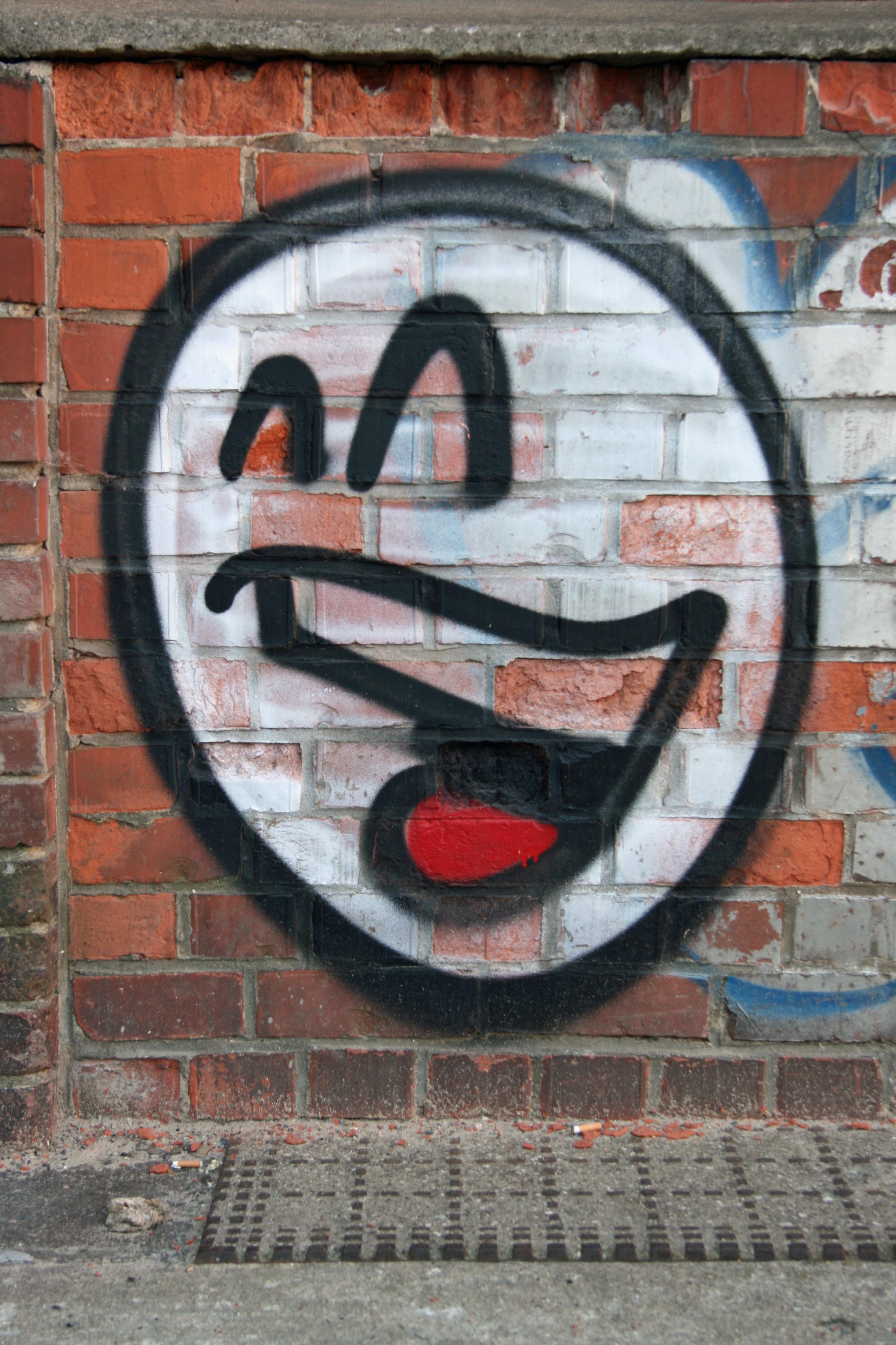 Smiley Face: Street Art by Mein Lieber Prost (often shortened to Prost) in Berlin