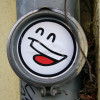 Smiley Sticker: Street Art by Mein Lieber Prost (often shortened to Prost) in Berlin